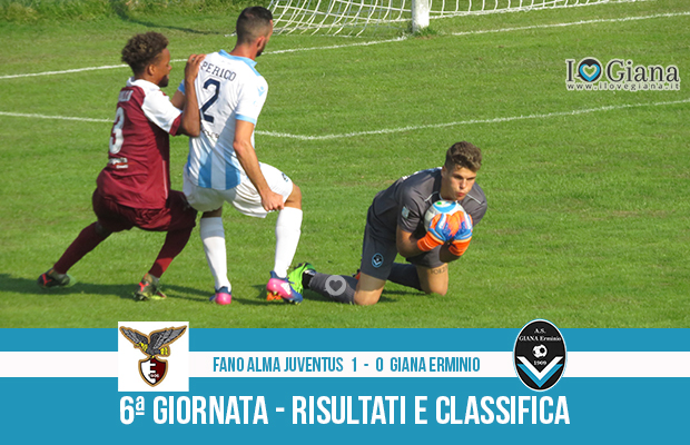6 Fano Giana Erminio 1-0 risultati e classifica 6 giornata serie C girone B