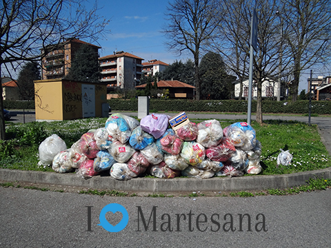 Gorgonzola rifiuti abbandonati