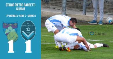 12 Gubbio Giana Erminio 1-1 serie C girone B