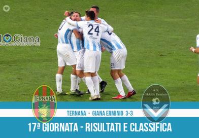 17 Ternana Giana Erminio 3-3 risultati e classifica 17 giornata serie C girone B