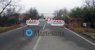 GORGONZOLA chiuso ponte via Buozzi